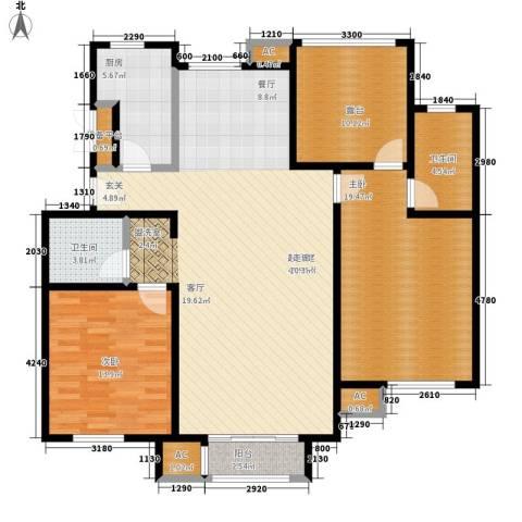 汇淼墅境2室0厅2卫1厨153.00㎡户型图