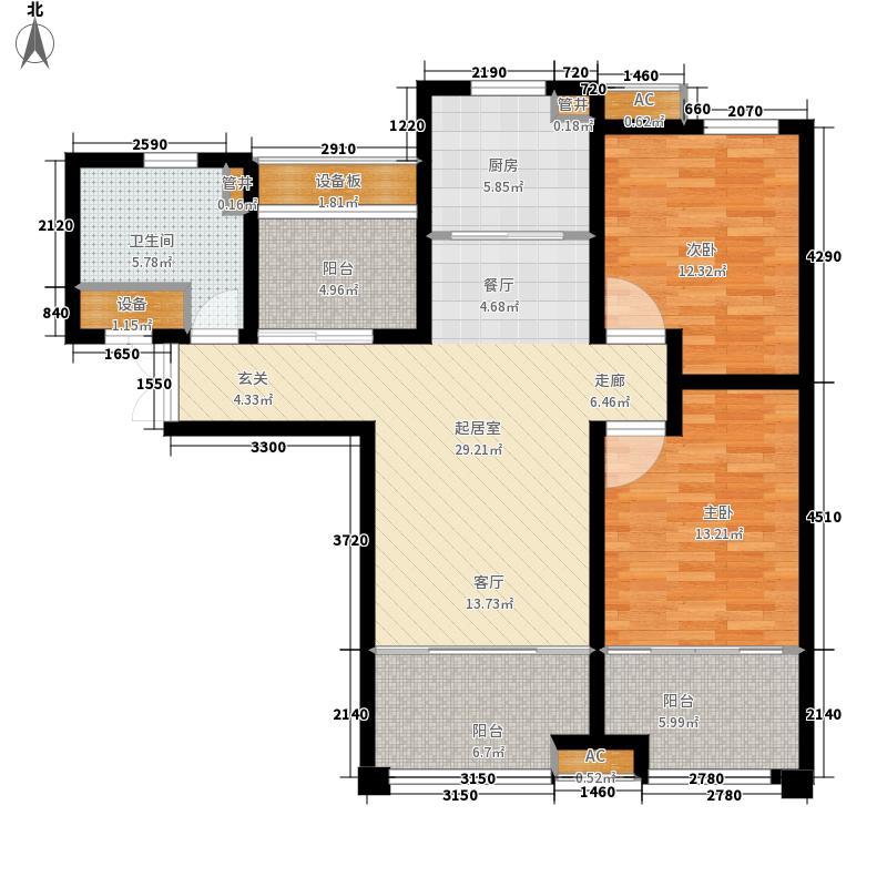 济南鲁能领秀城中央公园102.80㎡B-1户型2室2厅