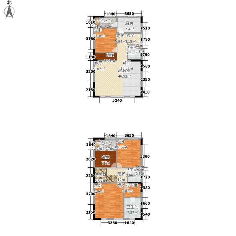 万科城165.00㎡电梯洋房户型4室2厅