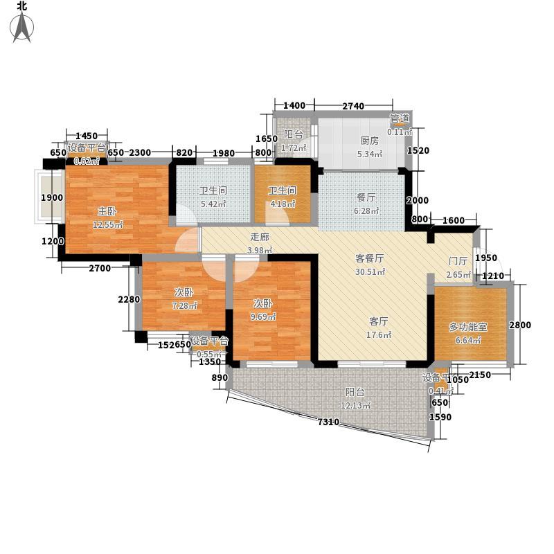 华侨凤凰国际城104.08㎡二期5、7、8号楼标准层J2户型