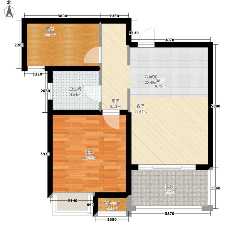 保利·海上罗兰65.00㎡D-户型1室1厅