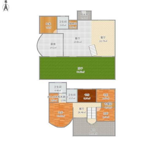 449396美之国花园别墅3室1厅3卫1厨258.00㎡户型图