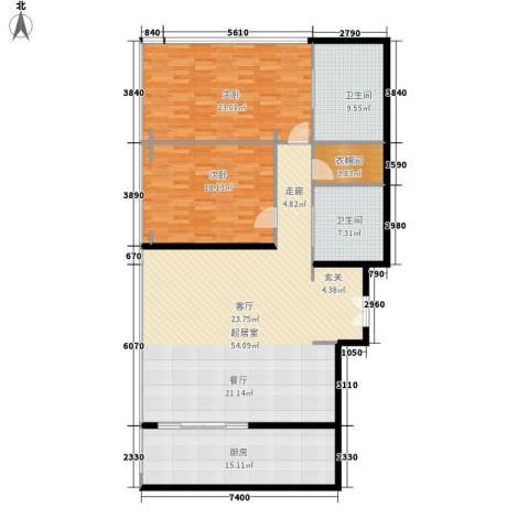 三里屯soho公寓2室0厅2卫1厨179.00㎡户型图