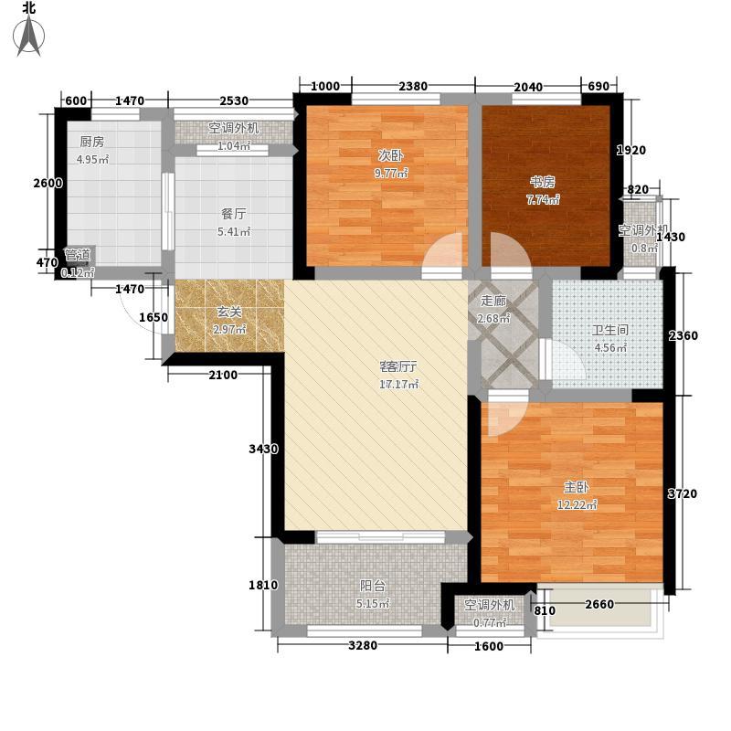 泰宏建业国际城89.00㎡B4户型3室2厅