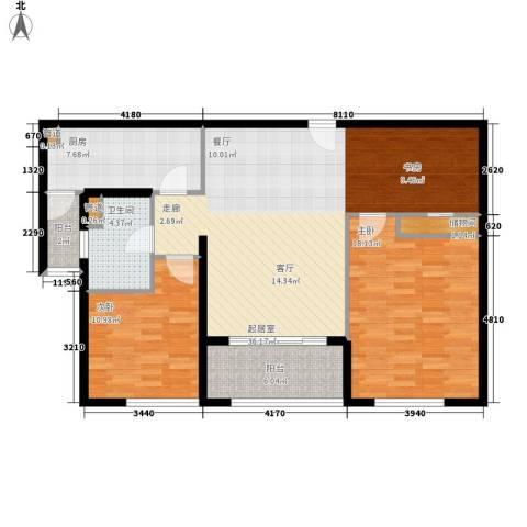 贝越流明新苑2室0厅1卫1厨122.00㎡户型图