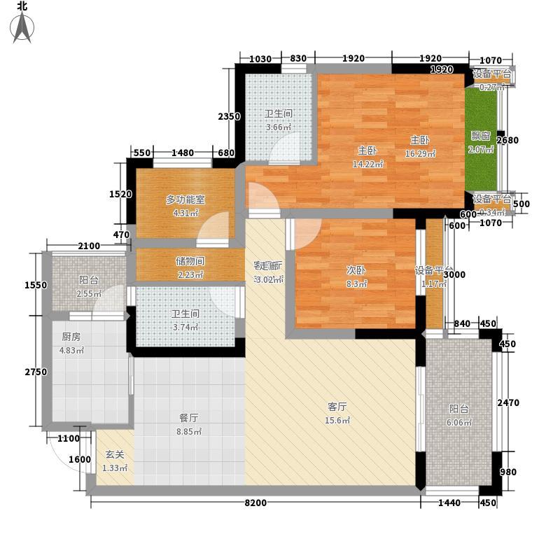 禹鑫亚瑟的城堡102.00㎡1期6栋标准层C6户型