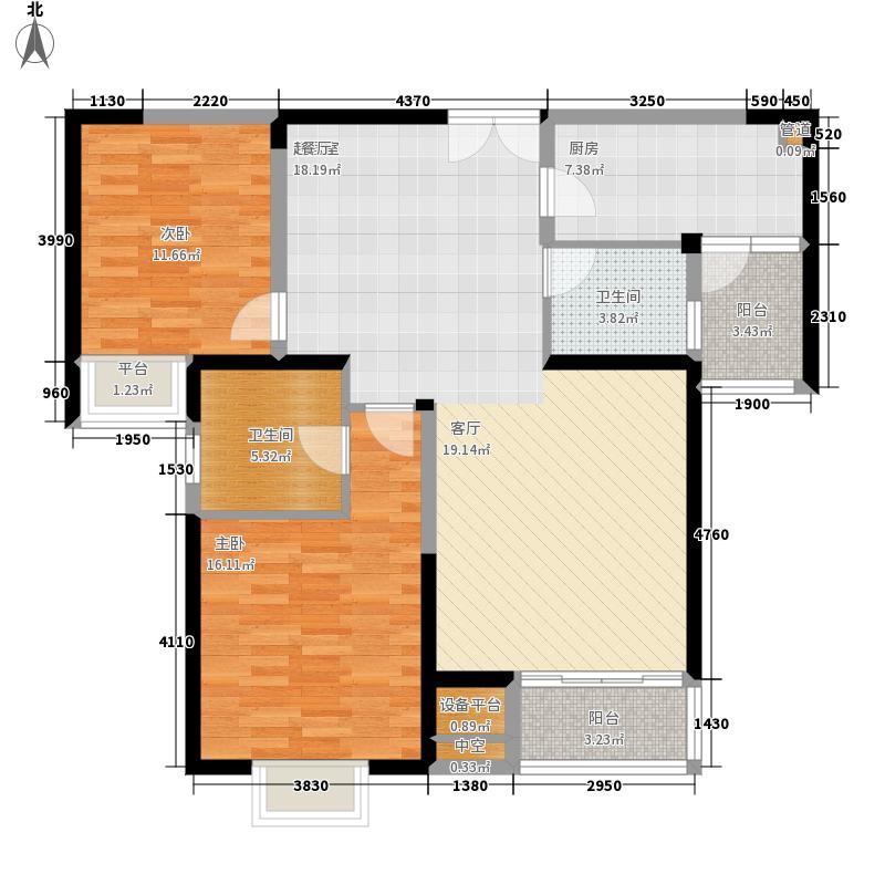 新加坡尚锦城105.00㎡户型2室2厅