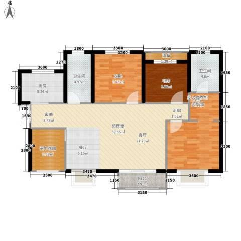 利君未来城3室0厅2卫1厨115.00㎡户型图