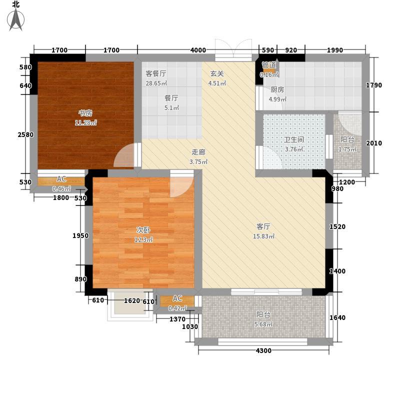 远洋高尔夫国际社区果岭洋楼74.00㎡一期G3、G4栋标准层D户型
