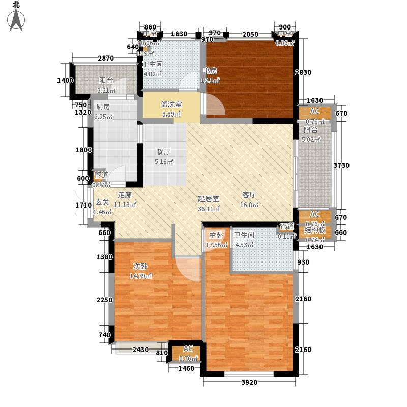 同济城市雅筑123.08㎡A6户型