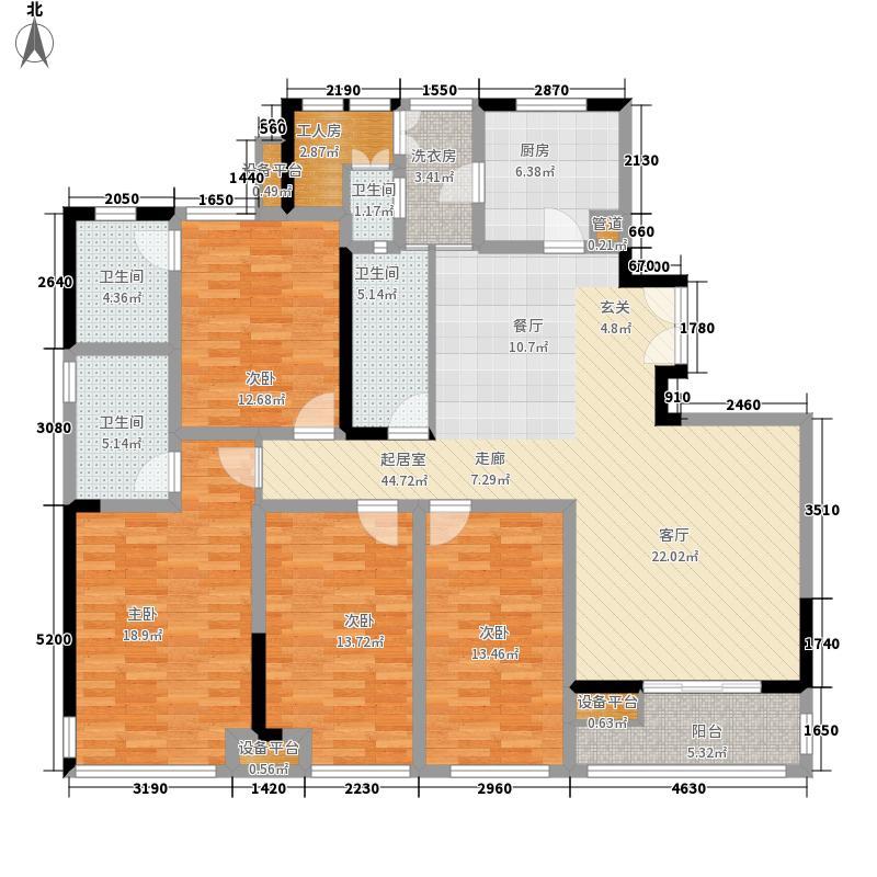 新加坡尚锦城160.00㎡C1户型5室2厅