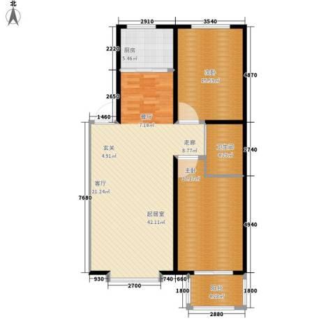 浩正�林湾2室0厅1卫1厨96.00㎡户型图