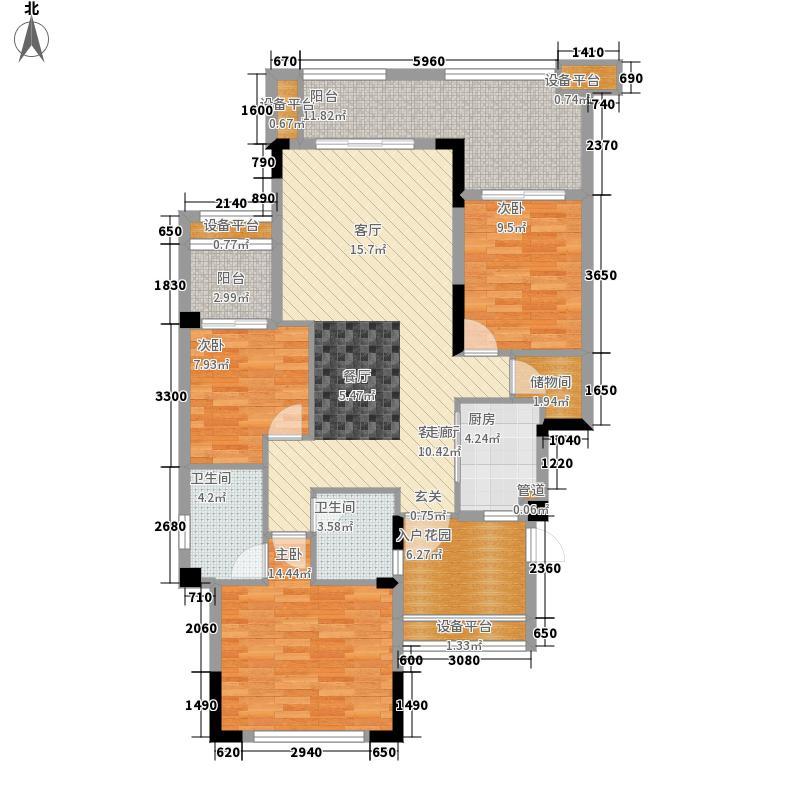 国瑞爱与山94.50㎡二期B区1幢1单元5-2号户型3室2厅