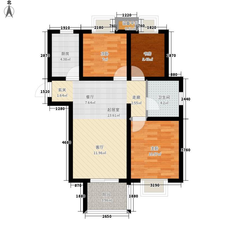 苏宁天润城70.00㎡十四街区C1户型3室2厅