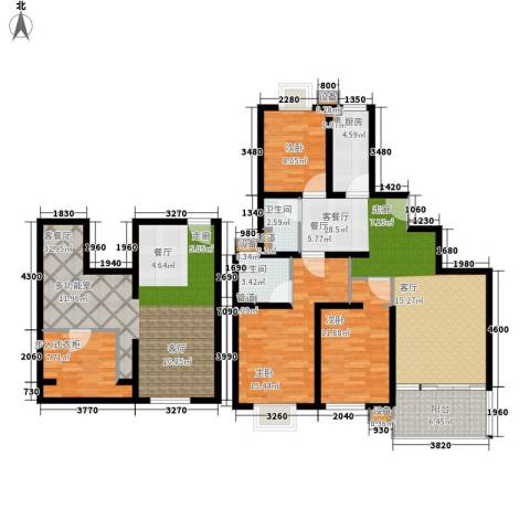 马陆清水湾公寓3室2厅2卫1厨142.00㎡户型图