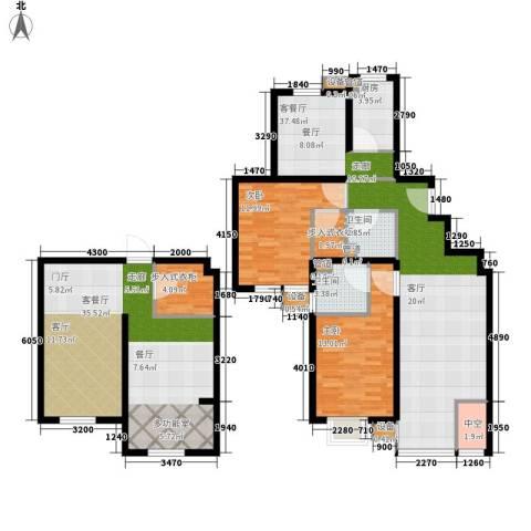 马陆清水湾公寓2室2厅2卫1厨135.00㎡户型图