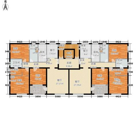 海泰渤龙湾6室0厅4卫2厨383.00㎡户型图