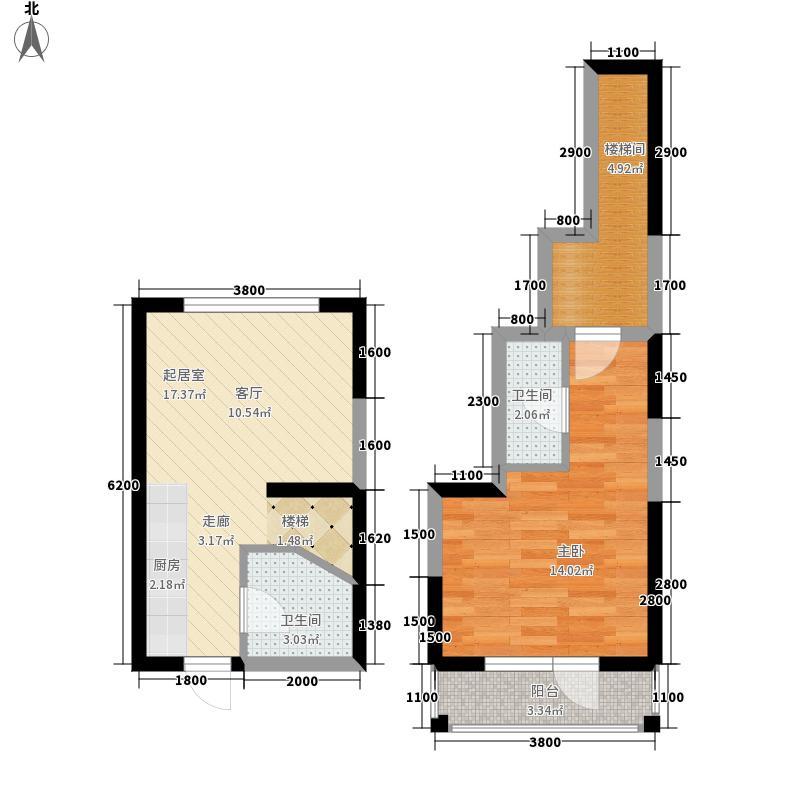 中交金海湾61.10㎡12-21奇数层户型1室1厅