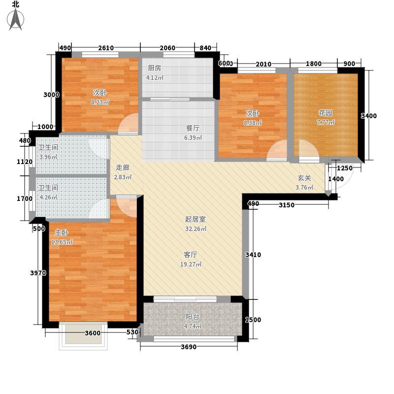 凯特梅溪紫郡113.44㎡5号栋01户型3室2厅