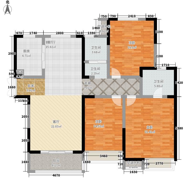 泰宏建业国际城143.00㎡E1/2户型3室2厅