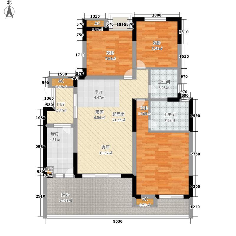 浩博方山境110.00㎡一期4号楼标准层B1户型