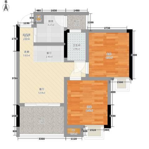 荣涛・丽苑2室0厅1卫1厨48.00㎡户型图