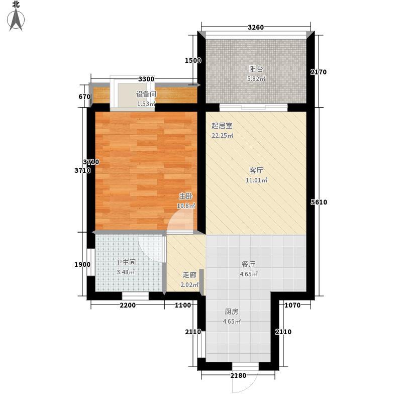 金佛美庐54.25㎡二期1号楼标准层C2户型