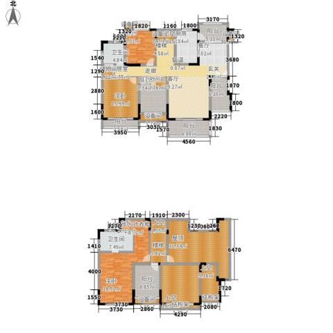 劲力五星城自由地3室0厅2卫1厨226.80㎡户型图