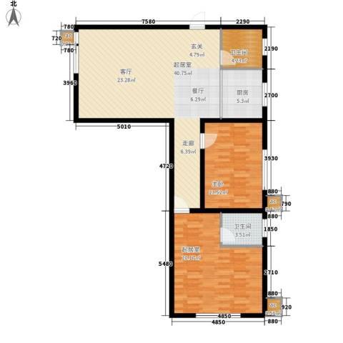 水郡花都1室0厅2卫1厨131.00㎡户型图