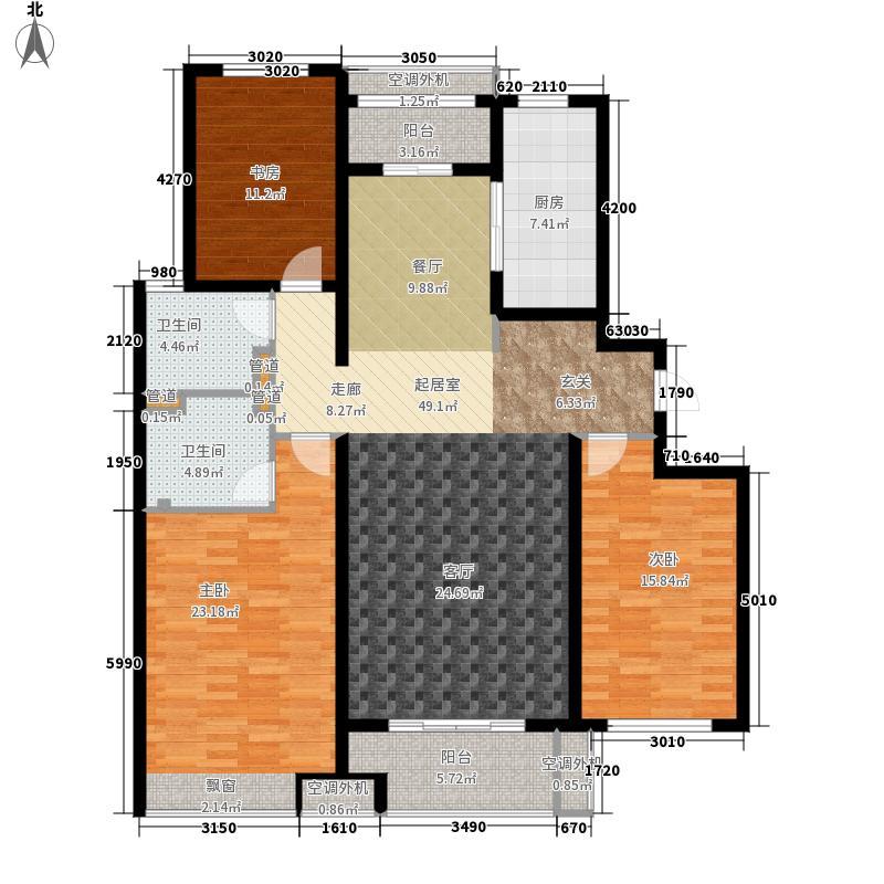 天鸿万象新天141.00㎡高层皇家爱尔兰G1户型3室2厅