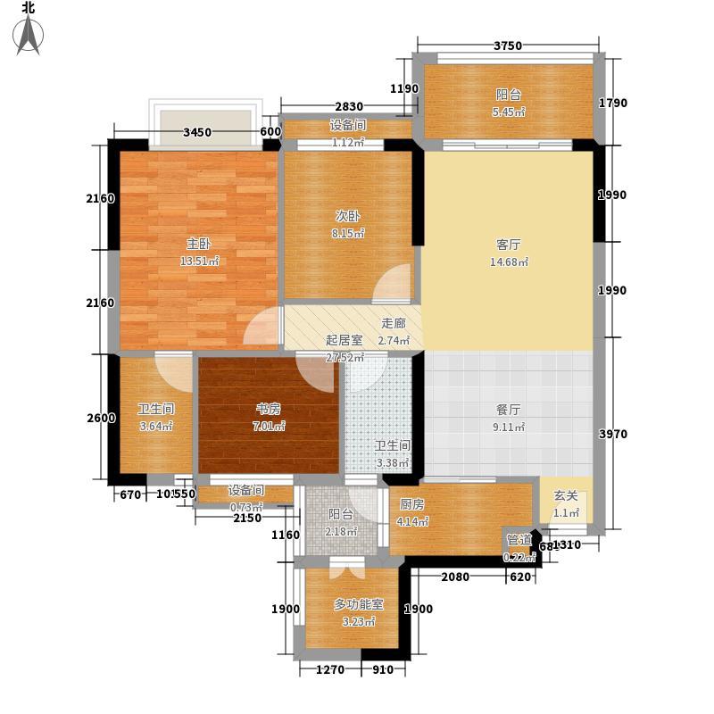 长堤1号95.00㎡129栋02户型3室2厅