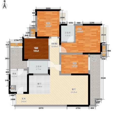 斗十千溯园4室0厅2卫1厨131.00㎡户型图