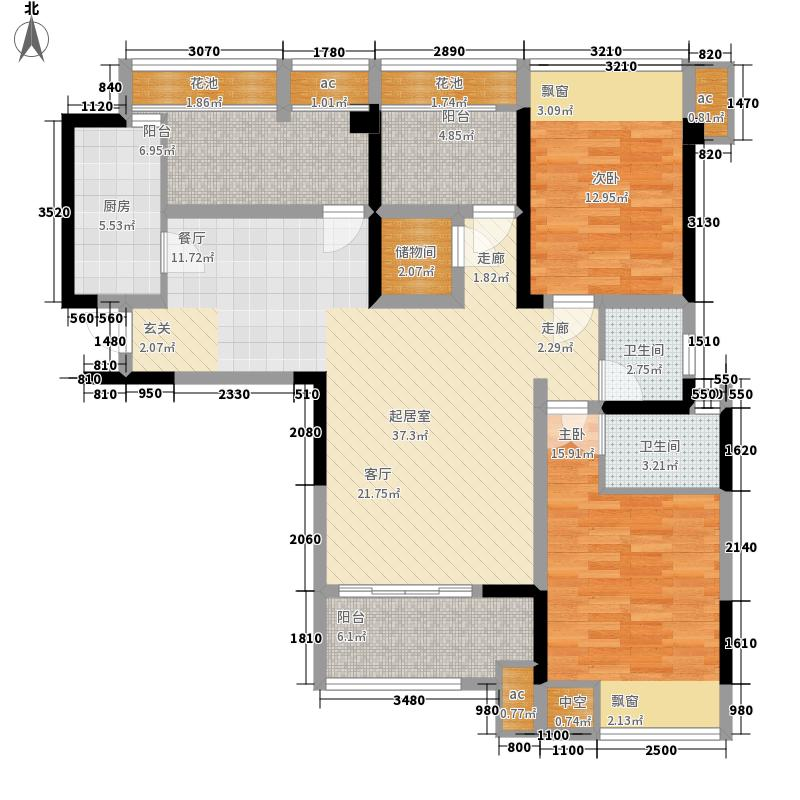 云星·钱隆首府124.00㎡10#楼户型4室2厅