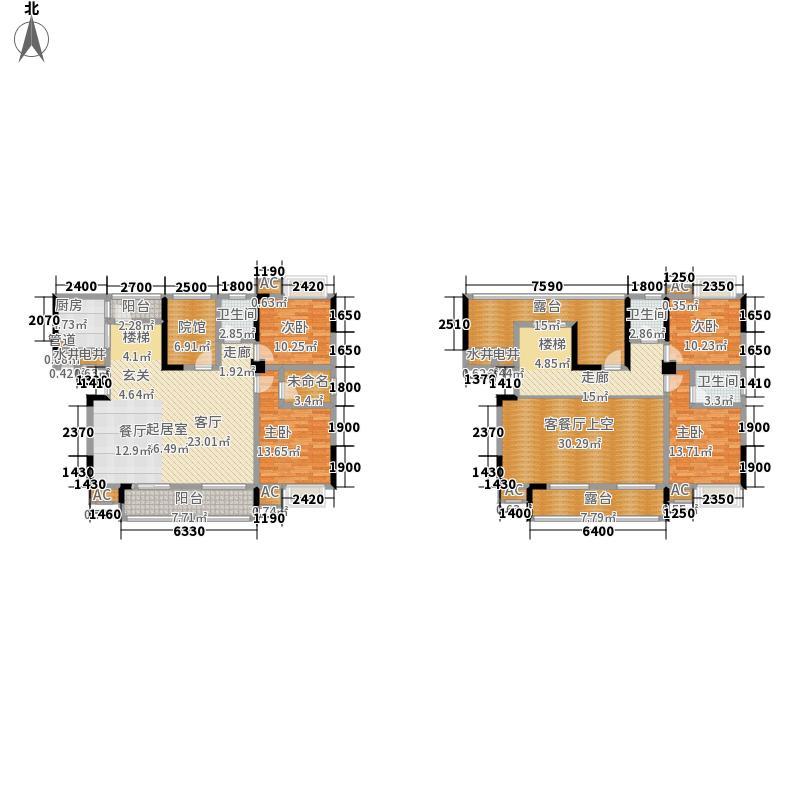 建恒长桥左岸194.49㎡一期电梯洋房标准层A4跃层户型4室2厅
