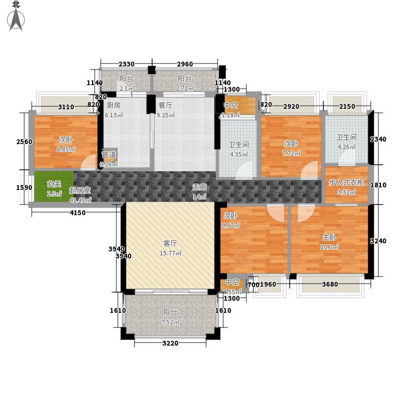 中洲中央公园(深圳)142.00㎡户型3室2厅