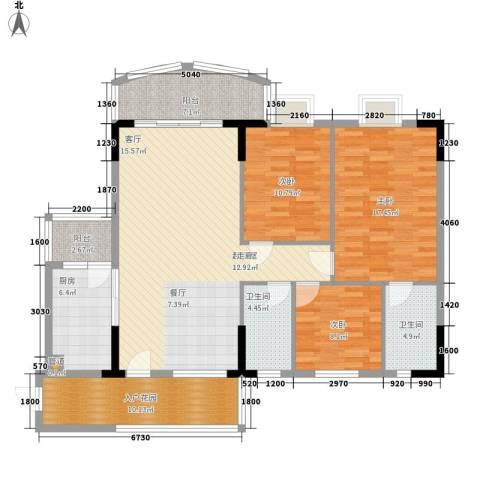 金泰瑞和园3室0厅2卫1厨129.00㎡户型图