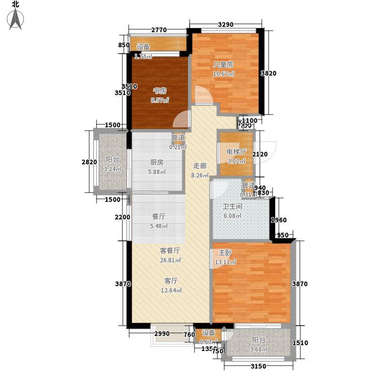 中交·阳光屿岸95.15㎡高层D2户型3室2厅