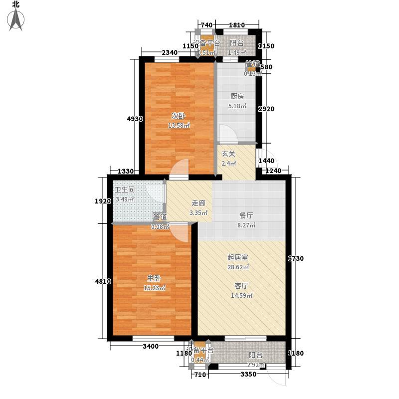 阿尔法社区85.00㎡二期2-1五层户面积8500m户型