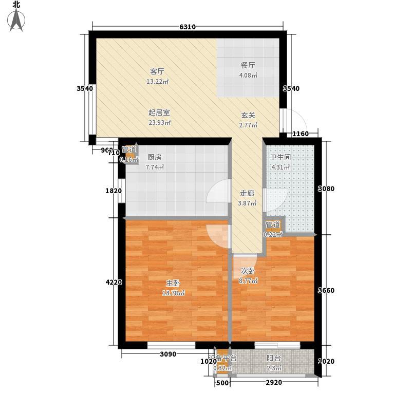 阿尔法社区79.00㎡二期2-5四层户面积7900m户型