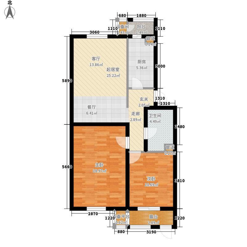 阿尔法社区90.00㎡二期2-3一层户面积9000m户型