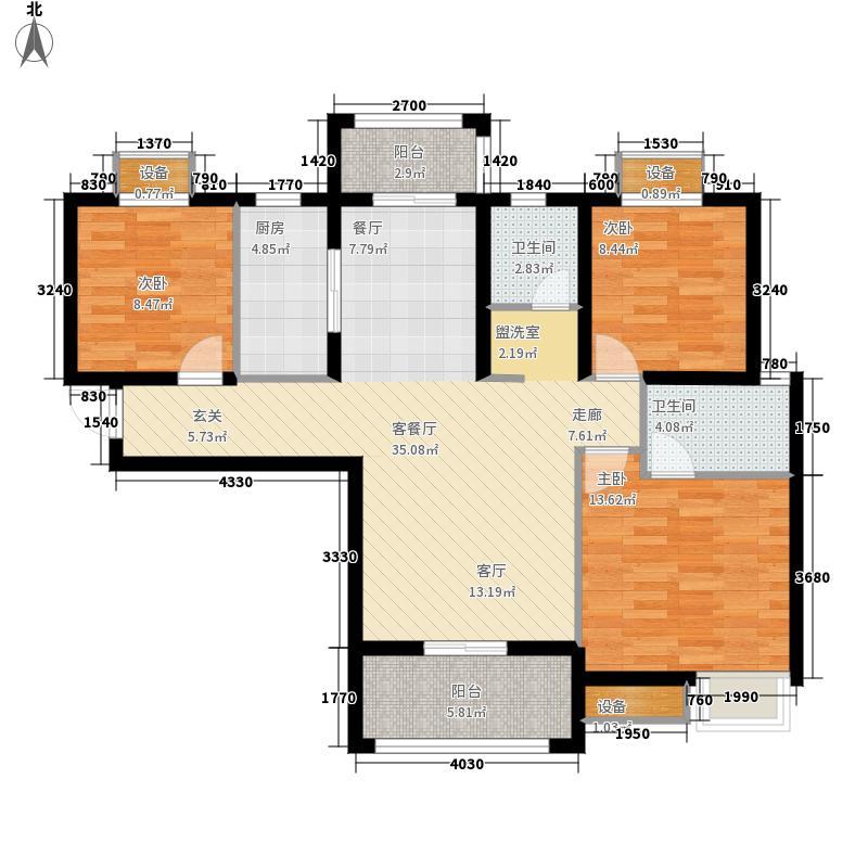 美联奥林匹克花园四期119.00㎡户型3室2厅