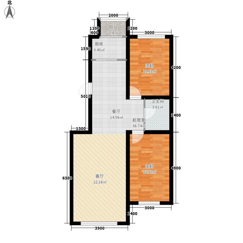 润和西部尚城104.00㎡户型2室2厅