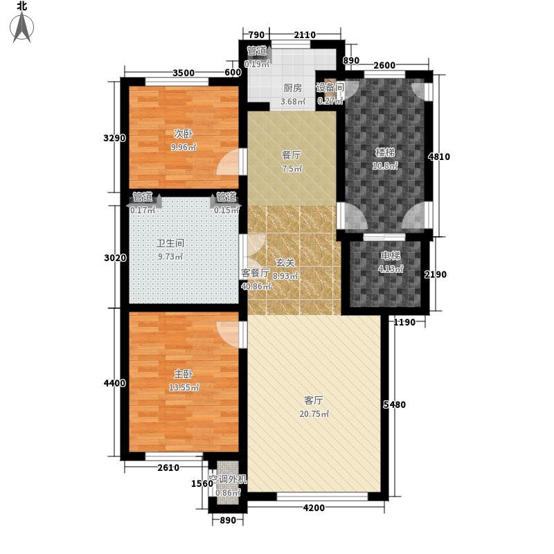 国信南山105.00㎡33#-D户型2室2厅