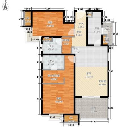 远雄兰苑2室0厅2卫1厨121.00㎡户型图