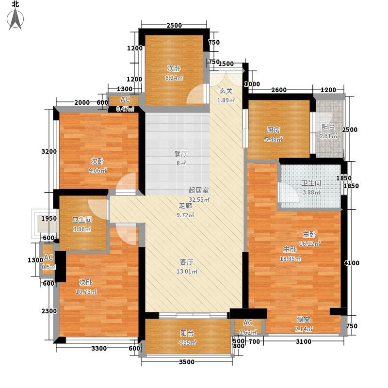 星河传奇111.00㎡户型4室2厅
