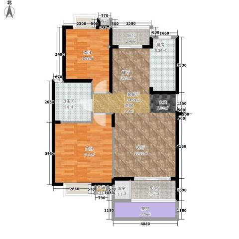 钢铁设计院宿舍楼2室1厅1卫0厨75.38㎡户型图