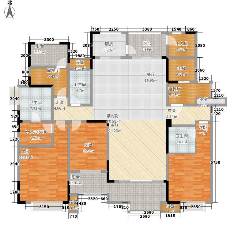 紫御江山185.00㎡御湾3、4、5、6号洋房标准层K户型