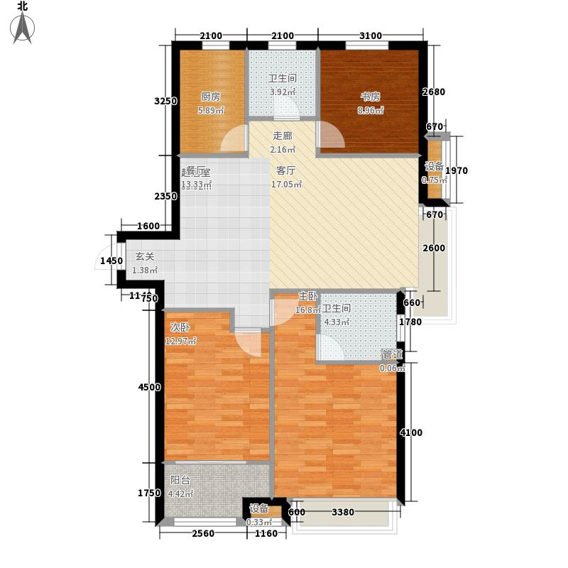 绿地隆悦公馆123.49㎡A6-N户型3室2厅