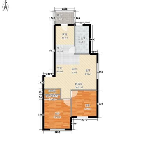 福宁雅居2室0厅1卫0厨65.90㎡户型图
