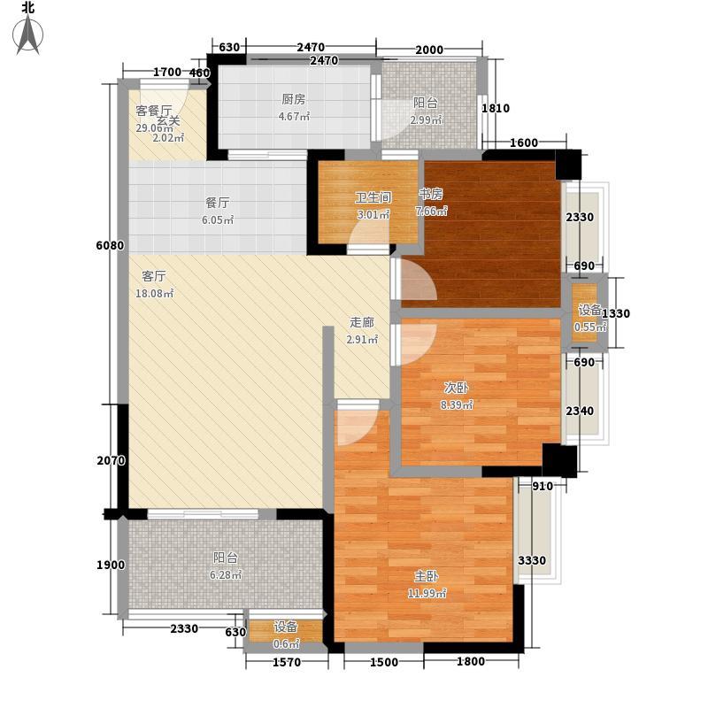 紫御江山79.00㎡御湾1/2/7号楼标准层C户型